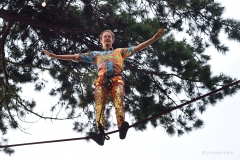 High wire act at Caravanserai, Camp Bestival 2019.