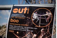 CirkVOST 'BoO' Trapeze Show, Poole Park, Poole, Dorset.