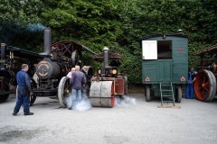 Steam engines and steam rollers at Drusilla's Inn Steam Up 2018, Horton, Dorset.
