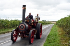 Burrell traction engine en route from Drusilla's Inn to the 2018 GDSF showground.