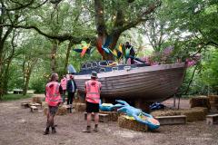 Preparing the Disco Ship - End Of The Road Festival 2021.