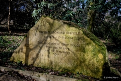 The memorial to Michael Leonard Belfield at Wayford Woods.