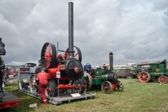 Polishing 'Portly Polly' steam engine at the GDSF 2018.