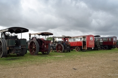 Vehicles  lined up and waiting to go to the main arena of the Great Dorset Steam Fair 2018.