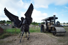 'The Angels of Mons' sculpture at the Great Dorset Steam Fair 2019.