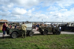 In the new WWII area at the Great Dorset Steam Fair 2019.
