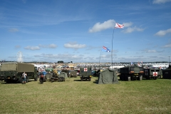 Army vehicles at the Great Dorset Steam Fair 2019.