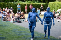 'The Blue Couple', Larmer Tree Festival 2018.