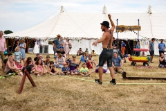 Tightrope workshop at Larmer Tree Festival 2018.
