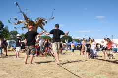 Tightrope workshop, Larmer Tree Festival 2018.