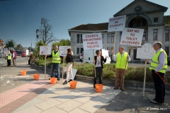 Public loo closures - 2nd protest outside Poole Council offices.