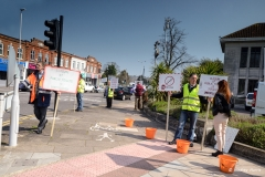 Public toilet closures - 2nd protest outside Poole Council offices.