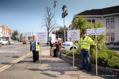 Public loo closures - 2nd demonstration outside the Civic Centre, Poole.