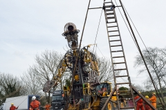 3. The Man Engine rises, Radstock, 6th April 2018.