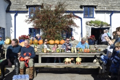 Vegetable 'monsters' and pumpkins at the Square & Compass, Worth Matravers, Dorset.