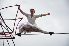 The Bullzini Family perform Equilibrius at Inside Out Dorset, Baiter Park, Poole.