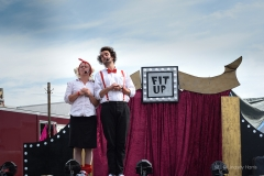 'Fit Up' entertain children at Wickham Festival 2019.