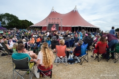 Listening (and watching) music at Wickham Festival 2019.
