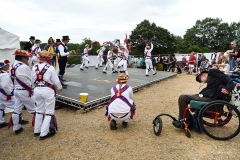 Morris dancers at Wickham Festival 2019.