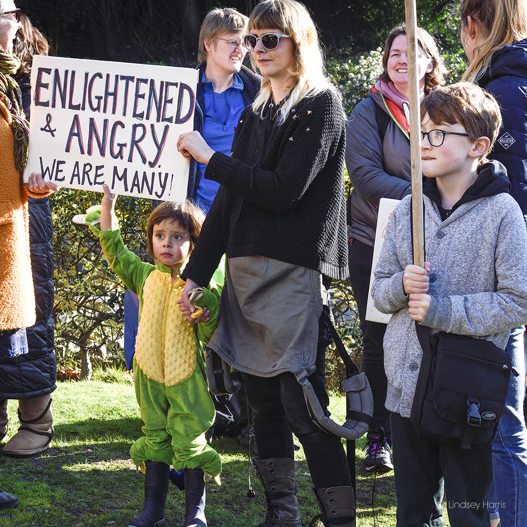 Children take part in the Youth Strike 4 Climate Bournemouth protest.