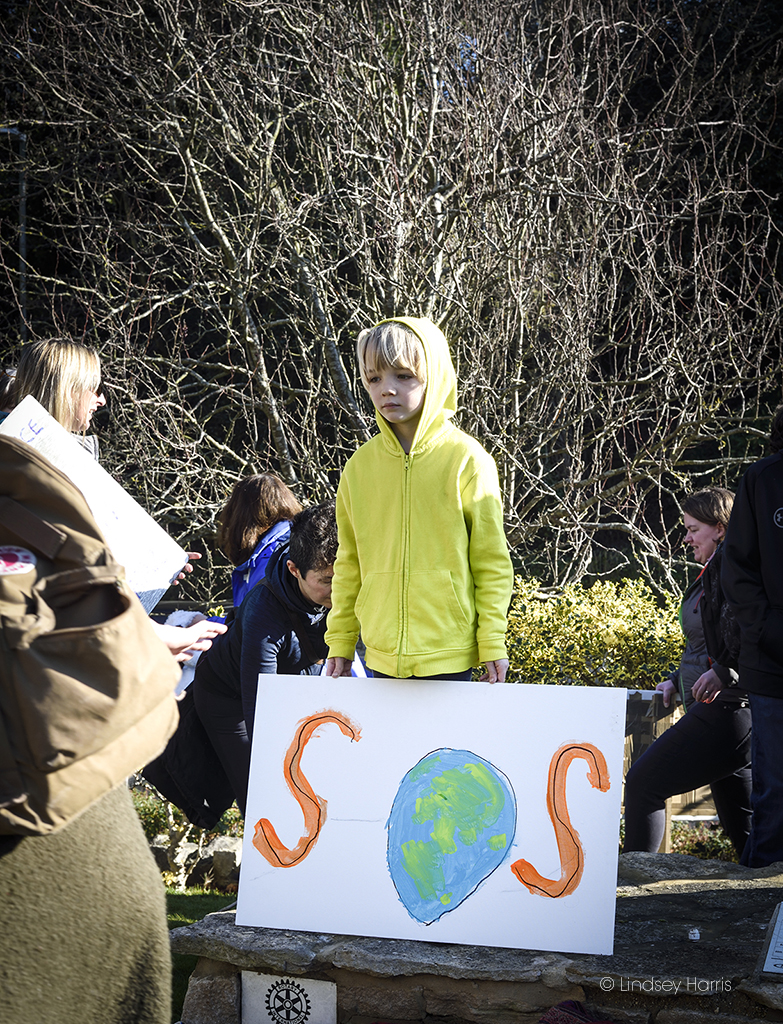 A child takes part in the Youth Strike 4 Climate Bournemouth protest.